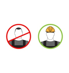 Sign warning about the use of personal protective vector image