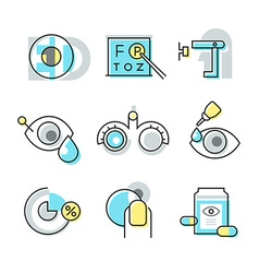 Optometry icons vector