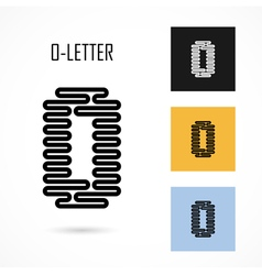 Creative o - letter icon abstract logo design vector