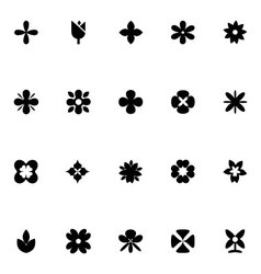 Flowers icons 1 vector