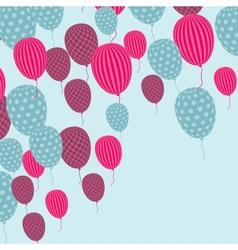 Retro balloon pattern vector