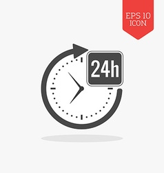 24 hours a day icon open around the clock concept vector