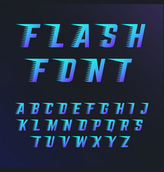 Abc letters with speed lines effects font vector