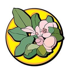 apple flower clip art yellow vector image vector image