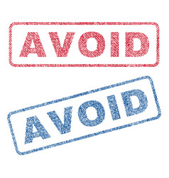 Avoid textile stamps vector