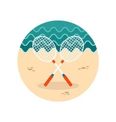 Badminton Racket icon Summer Vacation vector image