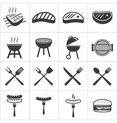 barbecue icon vector image