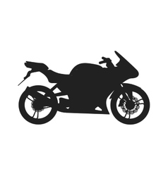 Black sport bike silhouette transport power vector image