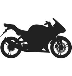 Black sport bike silhouette transport power vector