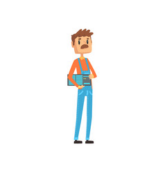 computer technician or system administrator vector image