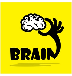 Creative brain sign ideaflat design vector