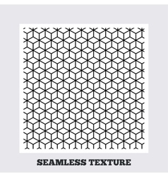 Cubes geometric seamless pattern vector image