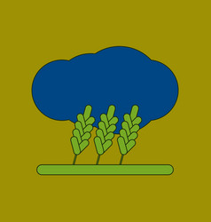 Flat icon on background wheat cloud vector