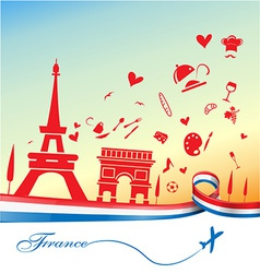 France holiday background vector