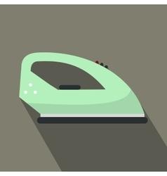 Green iron flat icon vector image