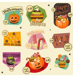 halloween stickers vector image vector image