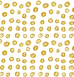 Hand drawn dotted seamless gold glitter pattern vector