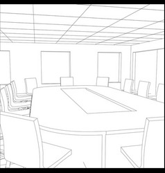 interior office meeting room tracing vector image