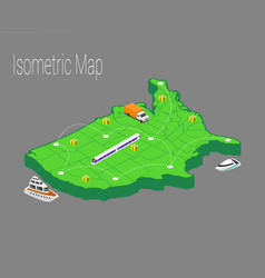 Map usa isometric concept vector