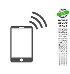 mobile wi-fi signal icon with set vector image