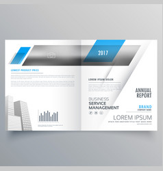 Modern business bifold magazine booklet cover vector