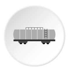 Oil railway tank icon circle vector