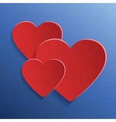 Paper heart element vector image