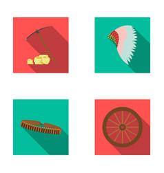 Pickaxe and stones bandolier cartwheel mohawk vector