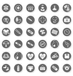 Pregancy and medical set icons vector
