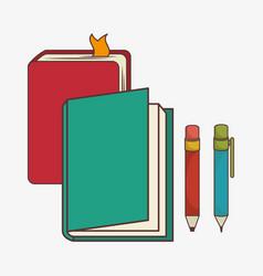 school elementes isolated icon vector image