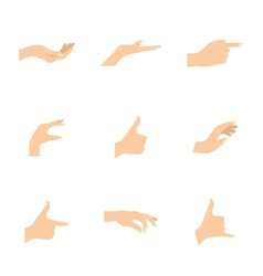 set of woman hands in various vector image vector image