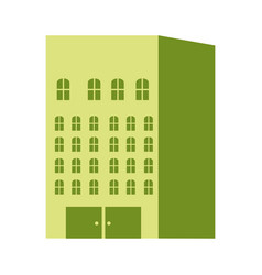 Silhouette color with residential building vector