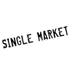 single market rubber stamp vector image