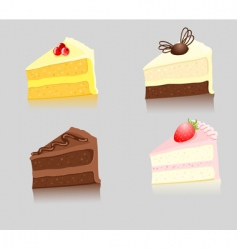 slices of cake vector image vector image