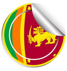 Sticker design for flag of srilanka vector