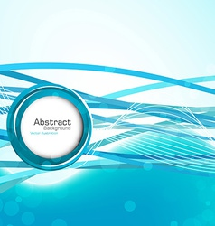 Stylish abstract blue background vector image