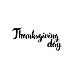 Thanksgiving day handwritten lettering vector