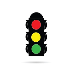 traffic light color vector image