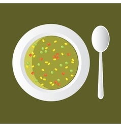 Vegetable soup vector