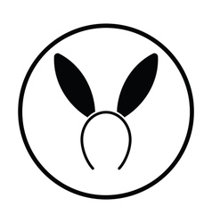 Sexy bunny ears icon vector
