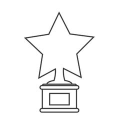 star trophy winner cinema design vector image