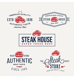 Steak House or Meat Store Vintage Typography vector image