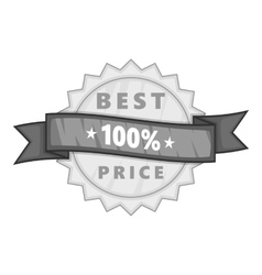 Label best price one hundred percent icon vector