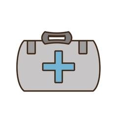 Cartoon kit first aid cross emergency medical vector