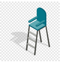 Tennis referee chair isometric icon vector