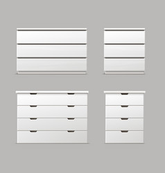 Set of drawers vector