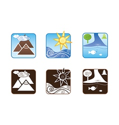 Rest icons vector