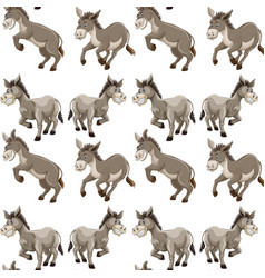 Seamless background design with gray donkeys vector