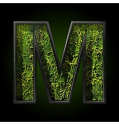 Grass cutted figure m vector