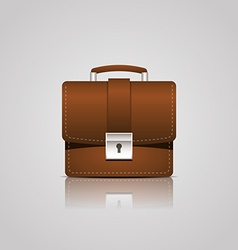 Brown business briefcase icon vector